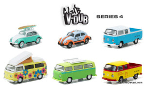 Greenlight 1:64 Club V-Dub 6 Vehicle Set | Series 4