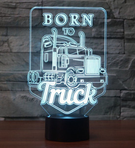 Iconic Replicas 3D Display Lamp: Born To Truck!