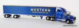 (Sold Out) DCP 1:64 Western Star 5700XE w/ 53' Refrigerated Spread-Axle Trailer: Western Distributing