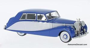 Neo 1:43 1956 Rolls Royce Silver Wraith, Hooper Empress Line, blue/grey