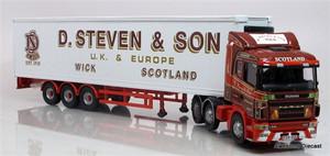 Corgi 1:50 Scania Refrigerated Box Trailer: D. Steven & Son Of Wick