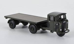 Oxford Diecast 1:76 Mechanical Horse w/ Flatbed Trailer: Royal Army Service Corps