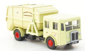 Oxford Diecast 1:76 Shelvoke Dewry Garbage Truck: Corp. of London
