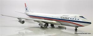 "Inflight 1:200 Boeing 747-100 Jetliner: United Airlines - N4735U ""Stars and Bars"""