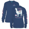 Save The Drama For Your Llama Long Sleeve Simply Southern Tee Shirt