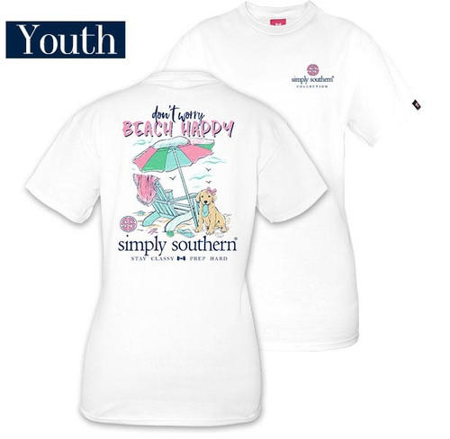 YOUTH Don't Worry Beach Happy Simply Southern Tee