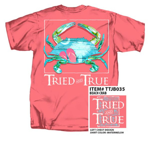 South Carolina Beach Crab Tried & True Comfort Color Tee
