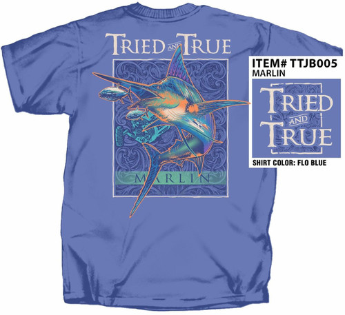 Blue Marlin Tried & True Cotton Short Sleeve T Shirt