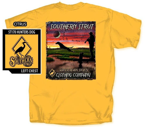 Hunters Dog Water Ready Society Southern Strut Cotton Short Sleeve T Shirt