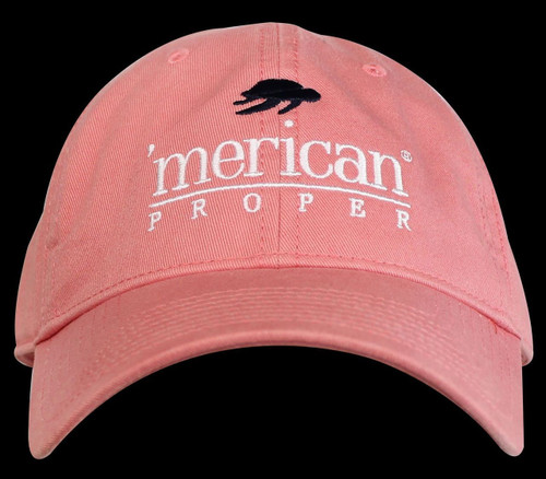 Merican Proper Logo Ball Cap Hat Preppy All Cotton Or Mesh