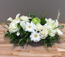 Crisp White Flowers with Green Apple