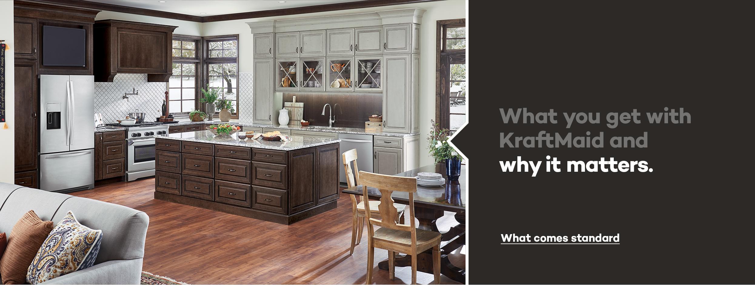 KraftMaid Beautiful cabinets for kitchen & bathroom designs