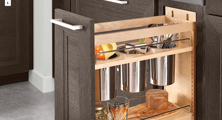 6 ways to simplify life in a kitchen with ambition kraftmaid - Kraftmaid cabinet replacement parts ...