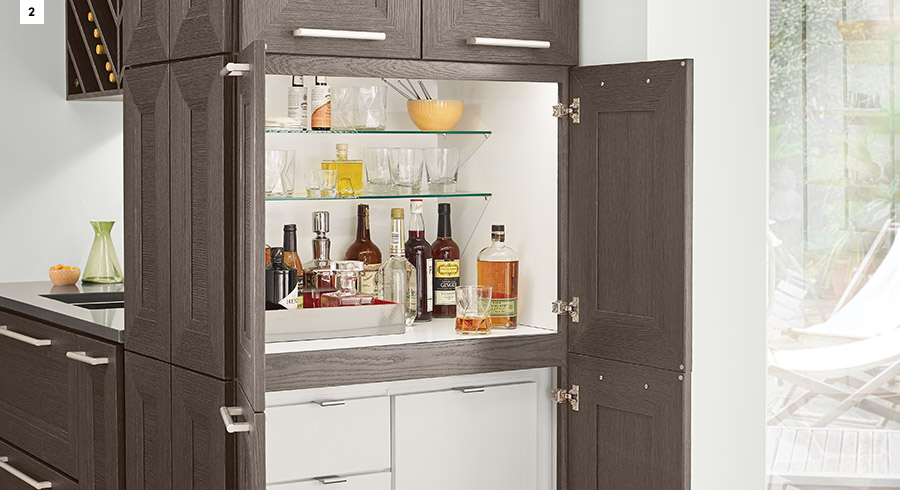 KraftMaid Stacked Cocktail Cabinet
