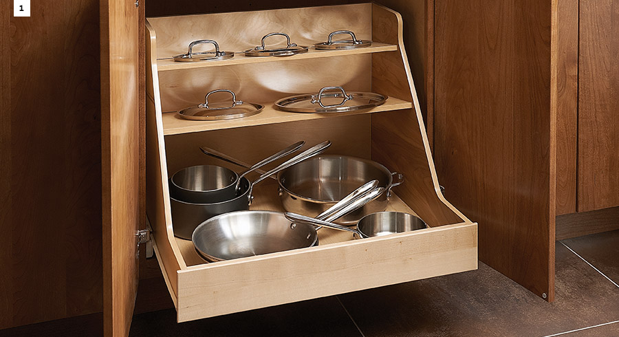 4 easy ways to upgrade your kitchen storage kraftmaid - Kraftmaid cabinet replacement parts ...