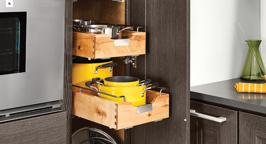KraftMaid Tiered Pan Pull-Out