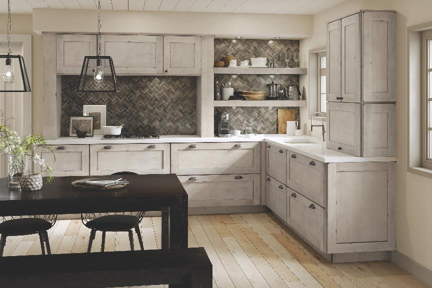 Aged Kitchen Cabinets