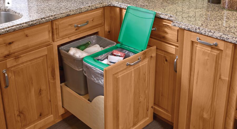 KraftMaid Auto-Open Wastebasket