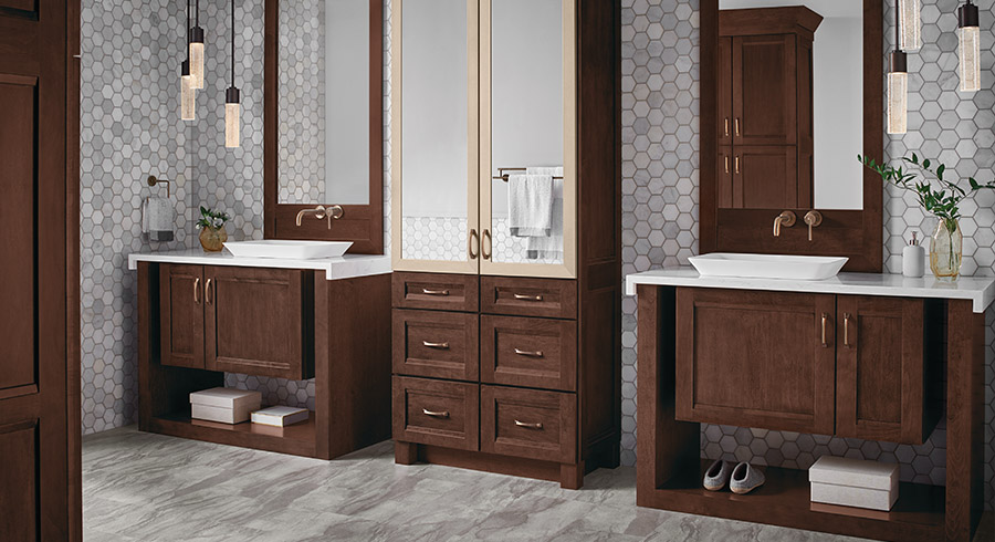 4 bathroom storage solutions to simplify your life kraftmaid - Bathroom storage cabinets floor to ceiling ...