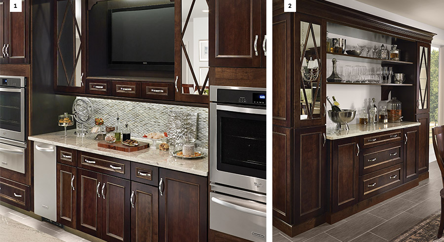 7 creative ways to design your kitchen layout for for Area above kitchen cabinets called