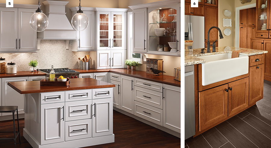 Kitchen Island Kraftmaid 6 ideas for designing a country kitchen - kraftmaid