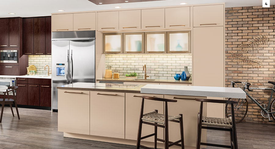 ... Which Make A Small Kitchen Look Even Smaller. Instead, Choose Things  That Donu0027t Take Up Valuable Floor Space, Like Small Islands, Slim Chairs,  ...