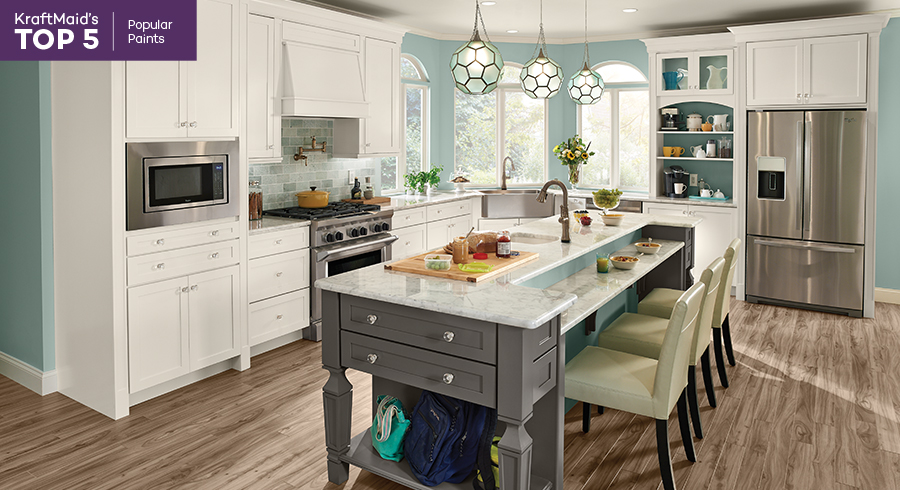 Interior Kraftmaid White Cabinets top 5s popular paint finishes kraftmaid command center kitchen