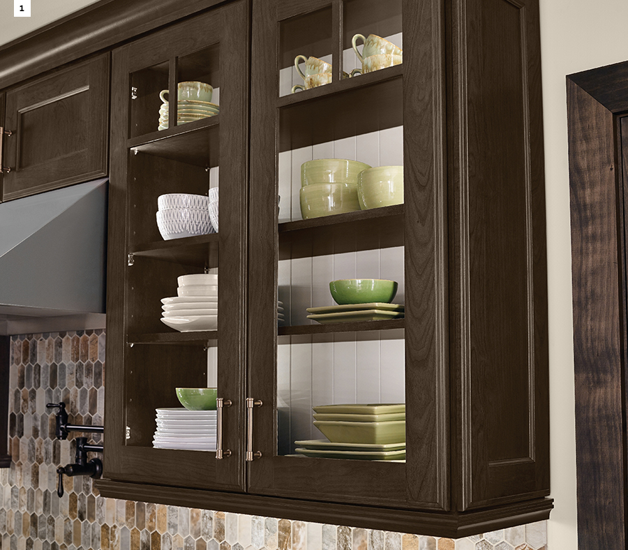 KraftMaid Kitchen Cabinets Contrasting Back