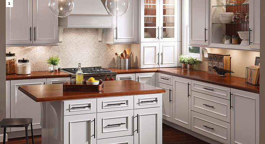 Charming KraftMaid Dove White Kitchen Cabinets