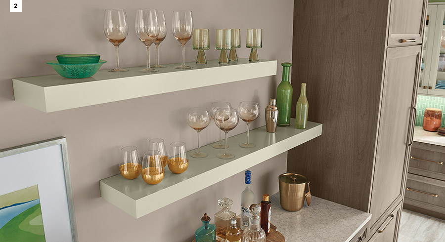 KraftMaid Floating Shelves