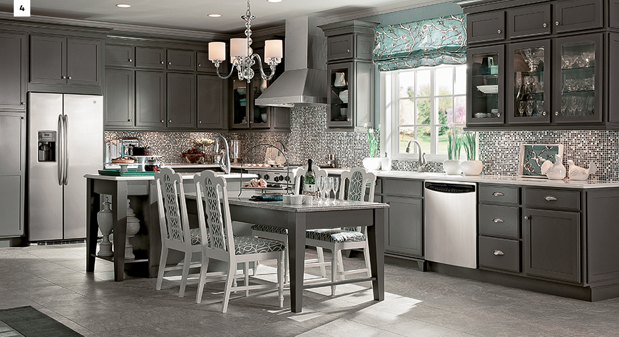 Beau KraftMaid Greyloft Kitchen Cabinets