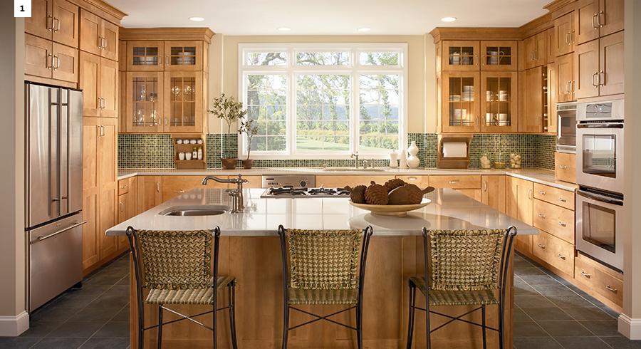 5 Most Popular Kitchen Layouts - Kraftmaid