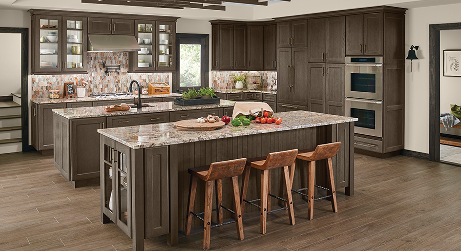 KraftMaid Kitchen Cannon Grey