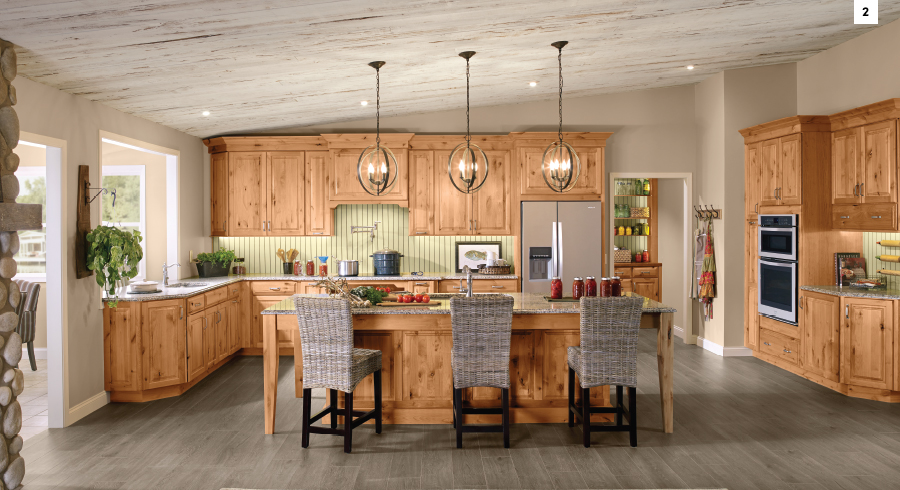 Light And Bright KraftMaid Natural Kitchen
