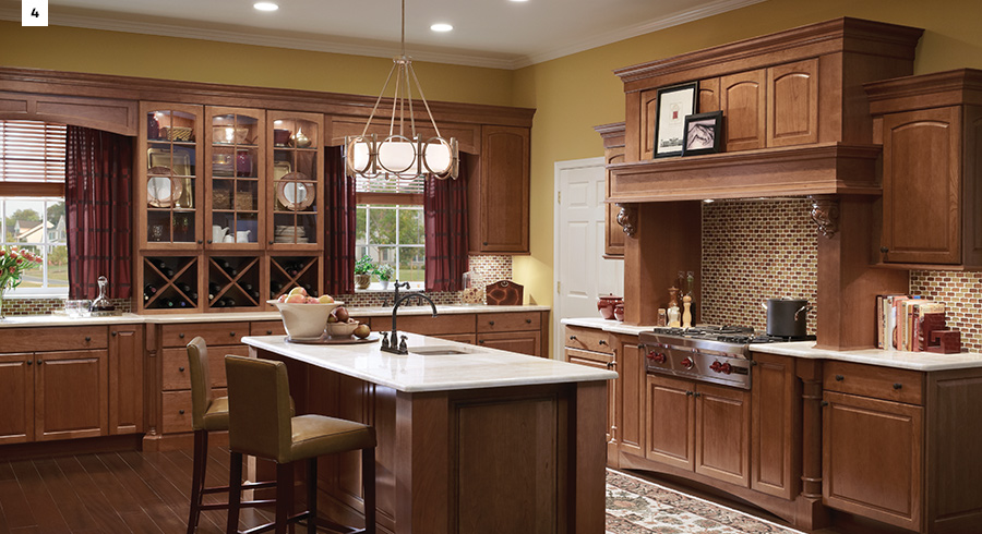 take this kitchen for example slabstyle cabinets offer a polished look and are paired with stainless steel appliances for the ultimate - Cherry Cabinets
