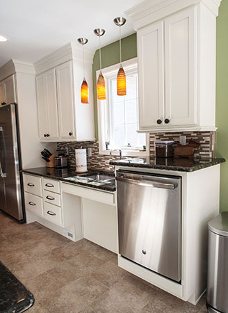 Kitchen Island Knee Space how to design a universal kitchen like this award winner - kraftmaid