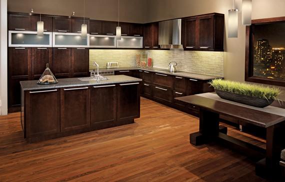 Quartersawn oak kitchen in peppercorn kraftmaid for Kraftmaid closet systems