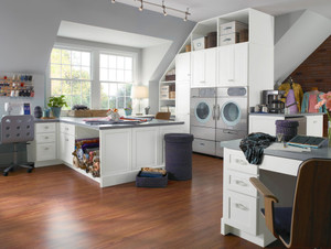 Thermofoil Laundry & Craft Room in White