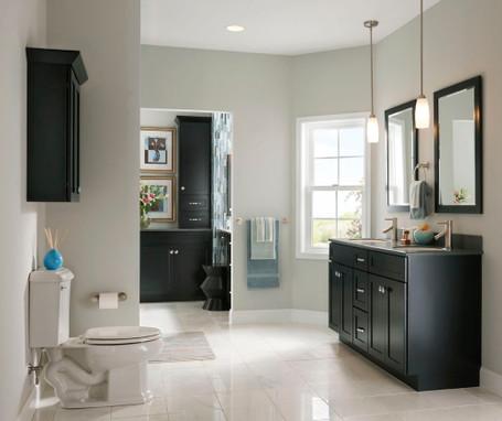 Maple Bathroom In Onyx Kraftmaid