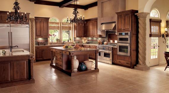 Oak Kitchen In Cognac Kraftmaid