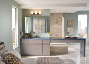 Maple Bathroom in Pebble Grey