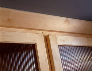 Angle Crown Molding in Natural Maple