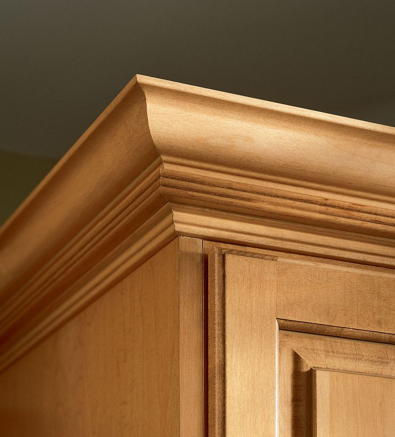 Kraftmaid Insert For Classic Crown Molding Kitchen Cabinet: Classic Crown And Triple Bead Molding