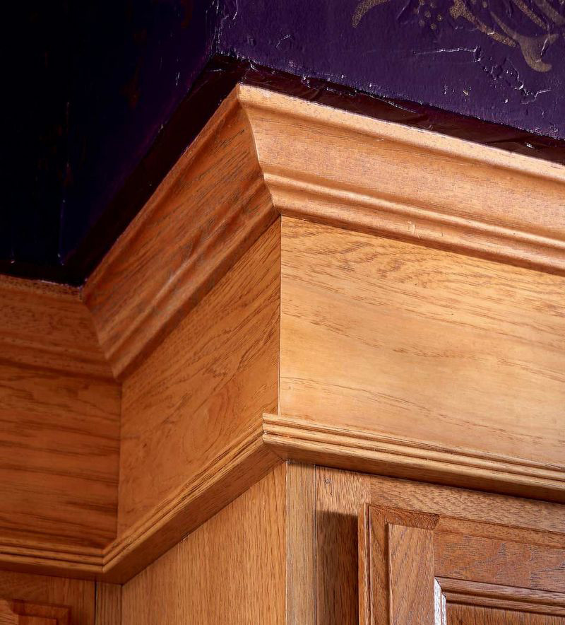 9 Types Of Molding For Your Kitchen Cabinets: Crown And Triple Bead Molding