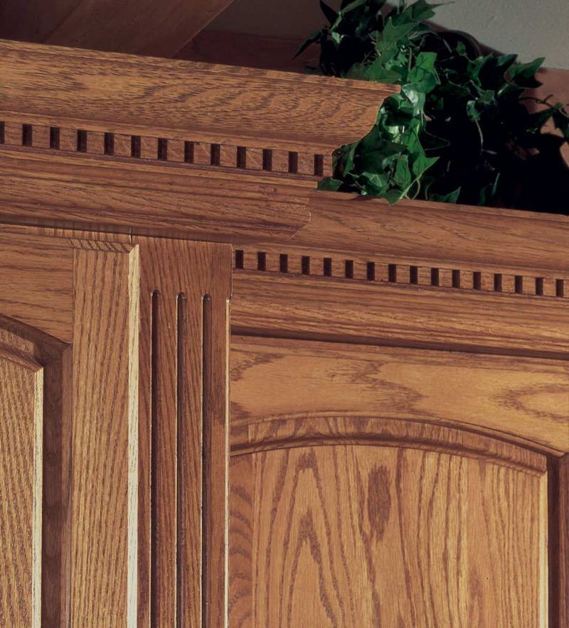 Kraftmaid Insert For Classic Crown Molding Kitchen Cabinet: Crown With Dentil Insert