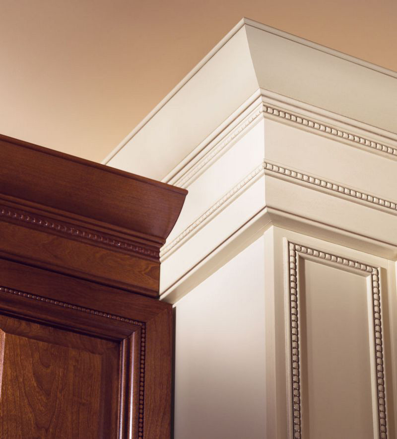 Moldings And Accents At Kraftmaid Com: Large Federal Molding With Center Bead Insert Detail
