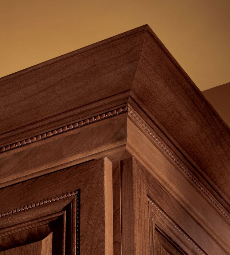 Moldings And Accents At Kraftmaid Com: Large Federal Molding With Starter Molding And Center Bead