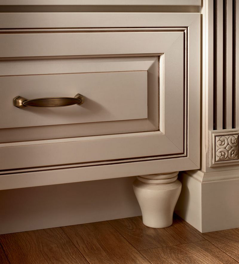 Moldings And Accents At Kraftmaid Com: Federal Leg As Toekick Detail