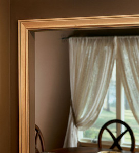 Large Cove Casing as Mirror Trim