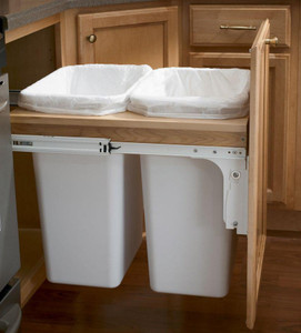 Base Top Mount Wastebasket - Full Height